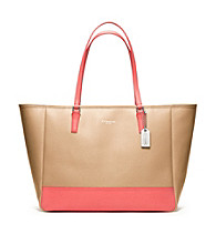 COACH SAFFIANO MEDIUM COLORBLOCK CITY TOTE