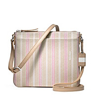 COACH LEGACY WEEKEND TICKING STRIPE SWINGPACK