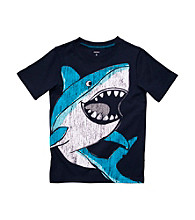 Carter's® Boys' 4-7 Navy Short Sleeve Big Shark Tee