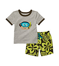 Carter's® Boys' 2T-4T Grey 2-pc. Monkey Shorts Set