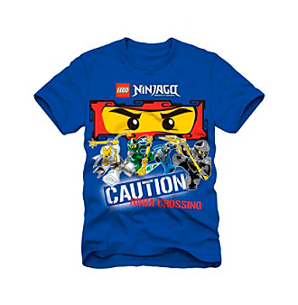 LEGO Boys' 4-7 Blue Short Sleeve Ninjago Ninja Tee Kid's