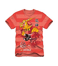 LEGO® Boys' 4-7 Red Striped Short Sleeve Ninjago Tee