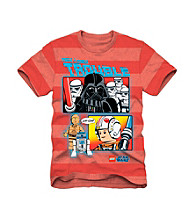 LEGO® Boys' 4-7 Red Striped Short Sleeve Star Wars Tee