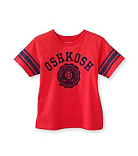 OshKosh B'Gosh® Boys' 2T-4T Red Short Sleeve Striped Varsity Tee
