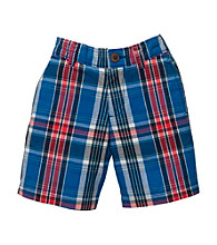 OshKosh B'Gosh® Boys' 2T-4T Blue/Red Plaid Shorts