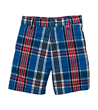 OshKosh B'Gosh® Boys' 4-7 Blue/Red Plaid Shorts
