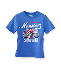 OshKosh B'Gosh® Boys' 4-7 Blue Short Sleeve Monster Mud Run Tee