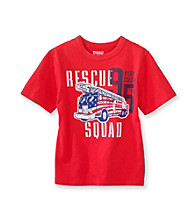 OshKosh B'Gosh® Boys' 4-7 Red Short Sleeve Rescue Squad Tee