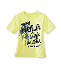 OshKosh B'Gosh® Boys' 4-7 Yellow Short Sleeve Hula Aloha Tee