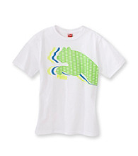 PUMA® Boys' 2T-20 White Short Sleeve Triple Cat Tee