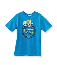 PUMA® Boys' 2T-20 Blue Short Sleeve Play Smart Tee