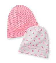 Carter's® Baby Girls' Pink/White 2-pk. Hats