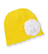 Carter's® Baby Girls' Yellow Crochet Beanie with Flower