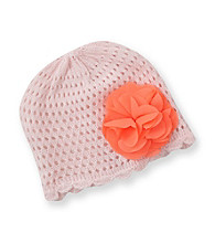 Carter's® Baby Girls' Pink Crochet Hat with Flower