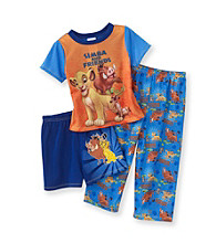 Disney® Boys' 2T-4T Blue/Orange 3-pc. Simba and Friends Pajama Set