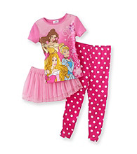 Disney Princess&Reg; Girls' 2T-4T Pink Polka-Dot Tutu Pajama Set
