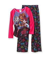 Monster High® Girls' 6-16 Pink/Black Scream Team Pajama Set