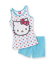Hello Kitty® Girls' 4-10 Blue Cute Kitty Pajama Set