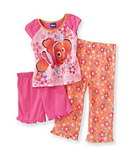 Disney® Girls' 2T-4T Pink/Orange 3-pc. Finding Nemo Pajama Set