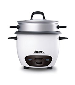 Aroma® 6-Cup Nonstick Rice Cooker and Food Steamer