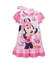 Mickey Mouse® Girls' 2T-4T Pink Minnie Polka-Dot Sleep Gown