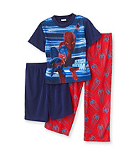 Spider-Man® Boys' 4-10 Blue/Red 3-pc. Web Stripes Sleep Set