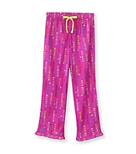 Calvin Klein Girls' 5-16 Purple Logo Print Pajama Pants