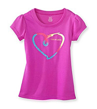 Calvin Klein Girls' 5-16 Purple Heart Pajama Top