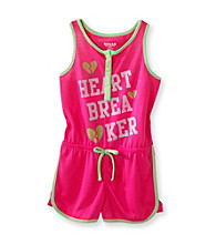 Sugar Sweet Girls' 5-16 Pink Heart Breaker Romper