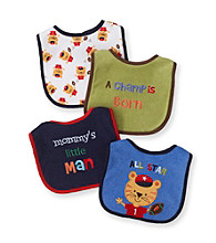 Cuddle Bear® Baby Boys' Assorted 4-pk. Tiger Bibs