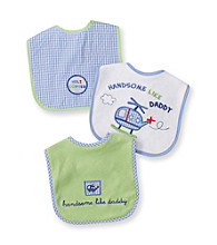 Cuddle Bear® Baby Boys' Assorted 3-pk. Gingham and Planes Bibs
