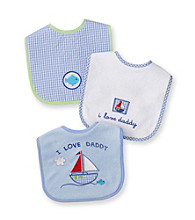 Cuddle Bear® Baby Boys' Assorted 3-pk. Gingham and Boat Bibs