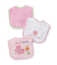 Cuddle Bear® Baby Girls' Assorted 3-pk. Gingham and Butterfly Bibs