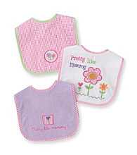 Cuddle Bear® Baby Girls' Assorted 3-pk. Gingham and Flowers Bibs
