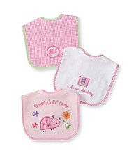 Cuddle Bear® Baby Girls' Assorted 3-pk. Gingham and Lady Bugs Bibs