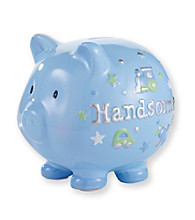 Cuddle Bear® Baby Boys' Blue Handsome Piggy Bank