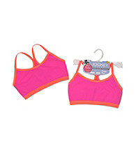 Jockey® Girls' Pink/Orange Thin Strap Crop Top