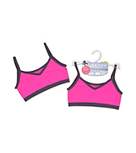 Jockey® Girls' Pink/Charcoal 2-way Crop Top Bra