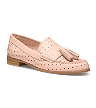 COACH HAYDEE PERFORATED PATENT LOAFER