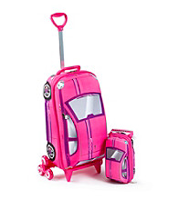 MaxToy Fiat Pink 500 3D Roller BackPack Set