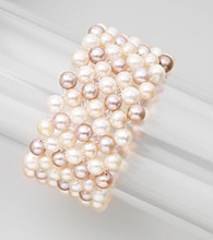 Genuine Freshwater Pearl Stretch Weave Bracelet