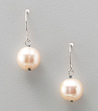 Genuine Natural Pink Pearl Earrings