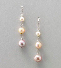 Genuine Freshwater Pearl Linked Drop Earrings