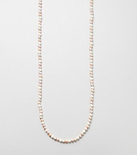 Genuine Freshwater Pearl Endless Knotted Necklace