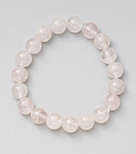 Rose Quartz Bead Stretch Bracelet