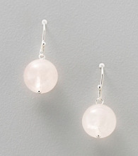 Genuine Rose Quartz Bead Earrings