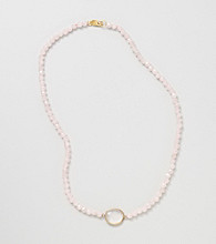 Genuine Rose Quartz Bead Necklace