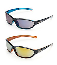 Paradise Collection® Men's Black Oval Sport Wrap Sunglasses