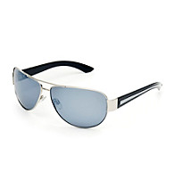 Paradise Collection® Men's Silver Medium Aviator Sunglasses