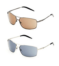 Paradise Collection® Men's Dark Gray Medium Pilot Sunglasses